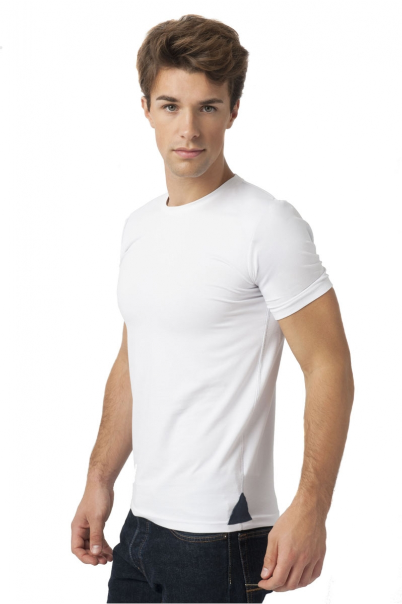 Up T-shirt Men Round neckline