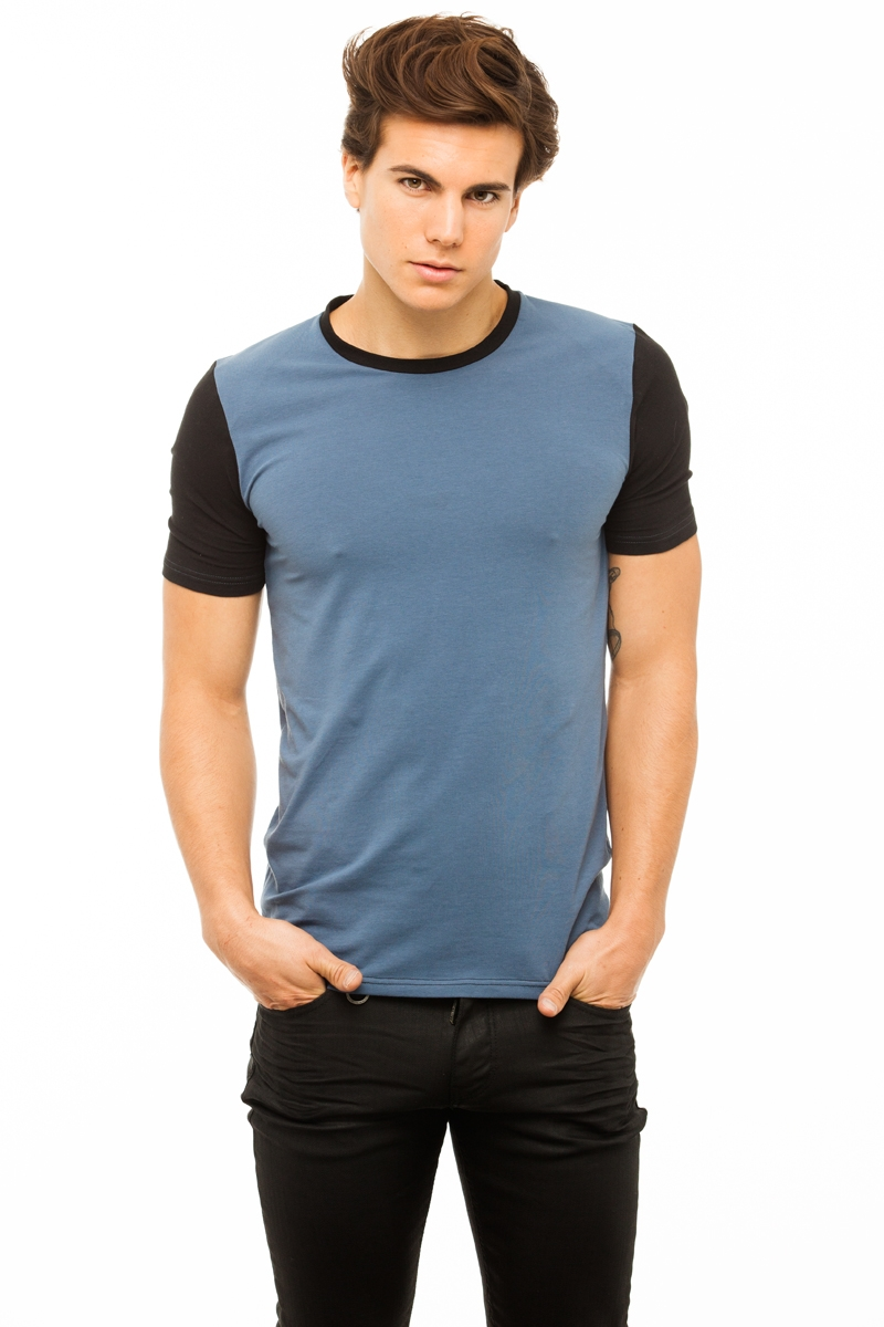 Up T-shirt Homme Bicolore
